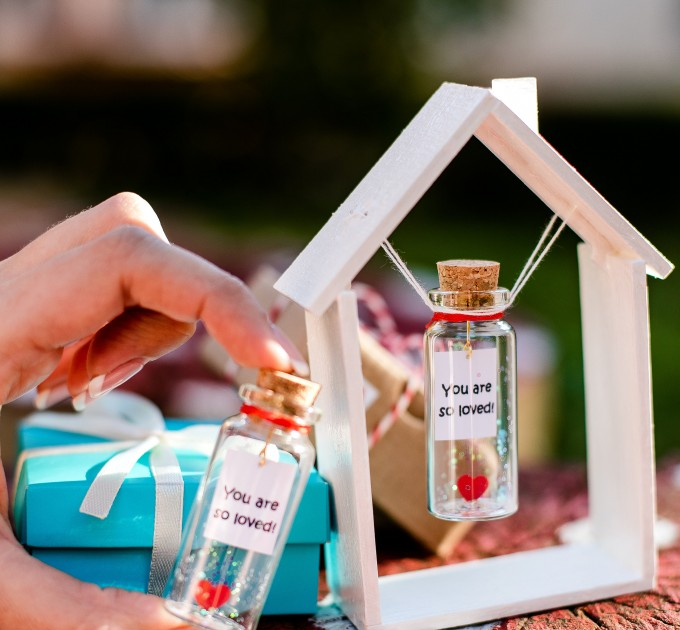 Personalized gift for her, Wish jar, Engagement gift, Mindfulness gift, Boyfriend gift, Girlfriend gift Message in a bottle