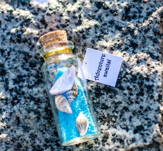 Personalized gift, Adventure Awaits, Ship in a bottle, Wanderlust, Funny Friendship Gift, Message In A Bottle, Traveler Origami gift