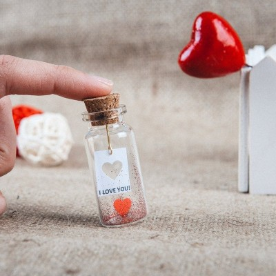 Anniversary Gift for girlfriend, I love you wish jar, Boyfriend gift, Mindfulness gift, Romantic gift for him, Thoughtful gift for her