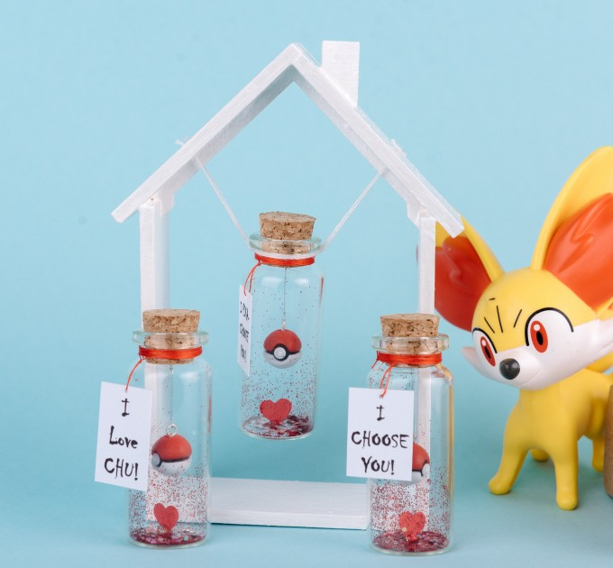 Pokemon Valentines Day Gift for Boyfriend Anniversary Girlfriend Gift Pokemon Gift I Choose You Gift for her Gift for him Cute Miniature