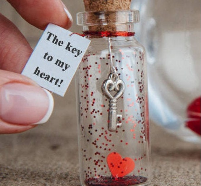 Anniversary gift for girlfriend The key to my heart I love you Gift for him Personalized gift for her, Romantic gift for wife