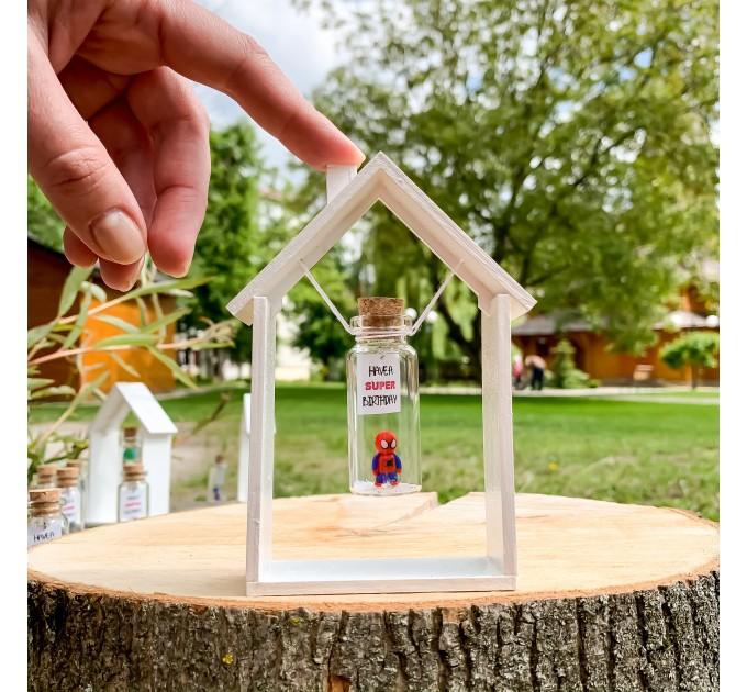 Spider-Man Birthday Present Best Friend 30th Marvel Gift For Him Miniature Superhero In A Bottle Avengers Gift For Boyfriend Happy Birthday