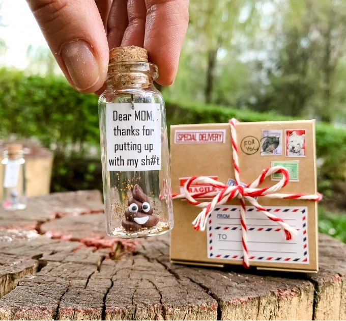 Funny birthday gift for mom Humorous poop gift for mother from daughter Personalized birthday gift for Mommy from son Novelty cute gift