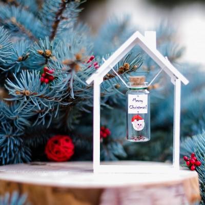 Boyfriend Christmas gift, Santa Gift, Merry Christmas, Miniature Santa Clause, Christmas gift for husband, Message in a bottle, Wish Jar