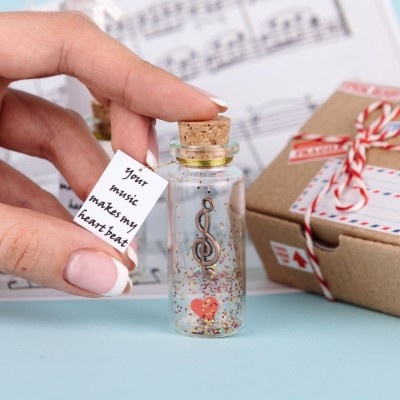 Wish jar, Musician gift for him, Personalized Gift for husband, gift for boyfriend, Alto clef, Gratitude jar, Musician gift