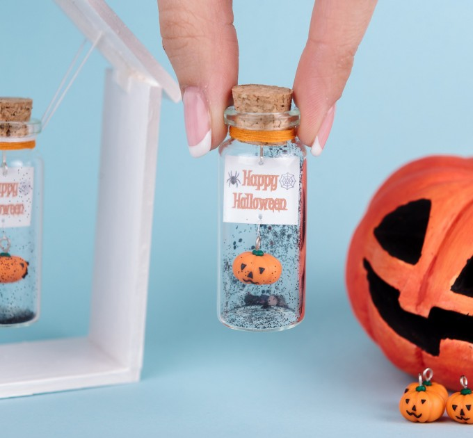 Happy Halloween Best Friend Gift, Miniature pumpkin, Creepy cute, Personalized gift for her, Halloween gift for him, Friendship gift