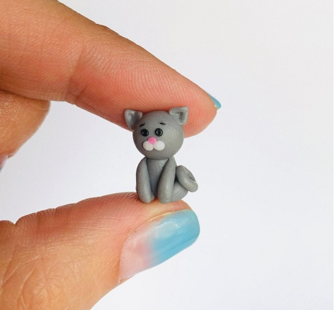 Personalized Cat Owner Gift, Miniature Grey Cat, Cat Lover Gift, Pet Gift for Owners, Cat Mom, Christmas Gift, Kitten