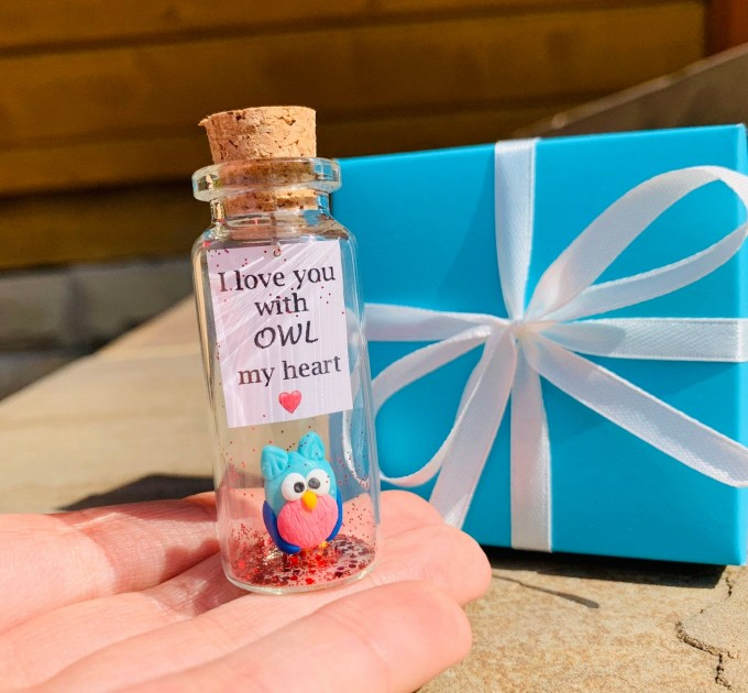 Cute gift for husband wife cheap gift for loved ones love wish jar cheap anniversary gift for girlfriend or boyfriend funny kawaii owl