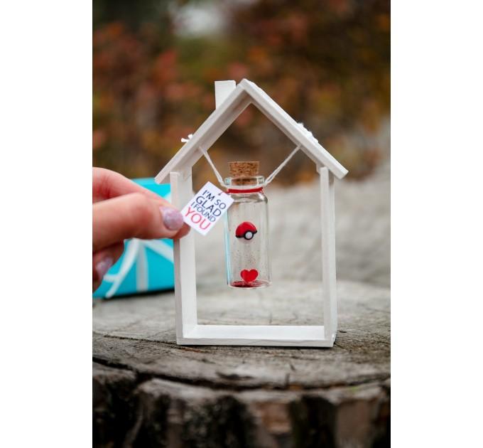 Pokemon Valentine gift for boyfriend Valentines Day gift for Him Pokemon Gift Cute gift for girlfriend My best catch Pikachu gift Wish jar