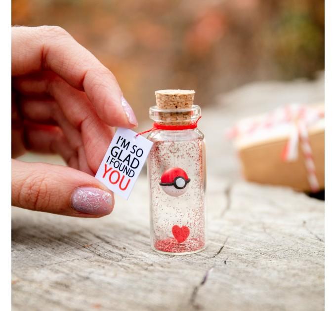 Anniversary Boyfriend Gift Pokemon Valentine Pokeball Valentines day Girlfriend Gift Pokemon Go Present for her or for him Cute gift Miniature