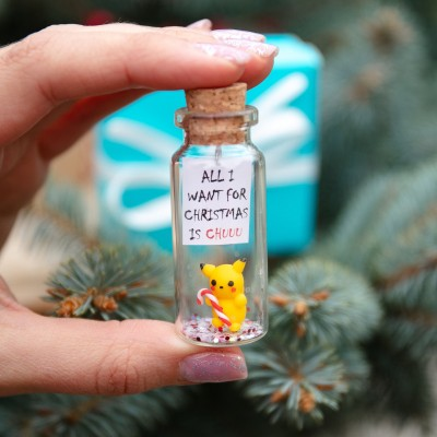 All I want for Christmas is Chu Funny Pokemon Pikachu Christmas gift for boyfriend