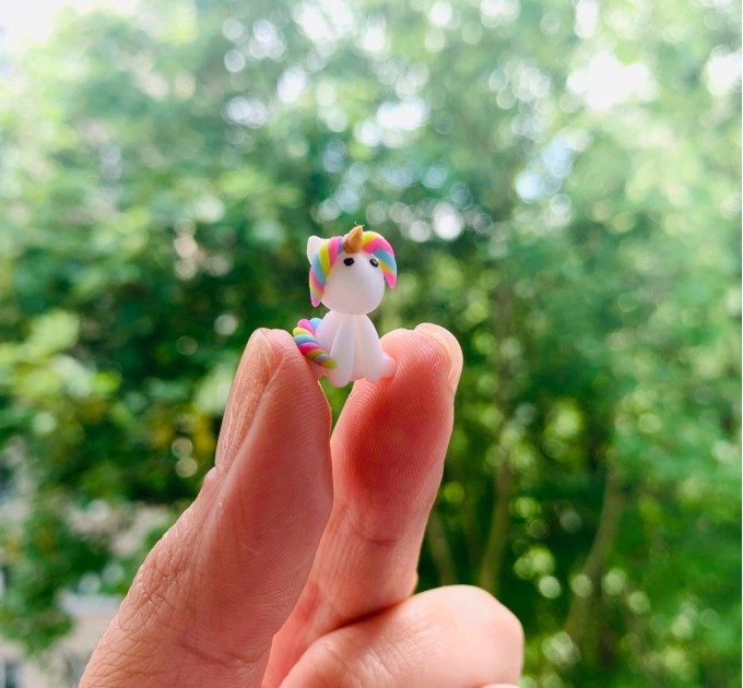 Unicorn Christmas gift for daughter from mom Cute holiday gift for friend Unicorn miniature gift Magic Christmas gift Small gift under 15