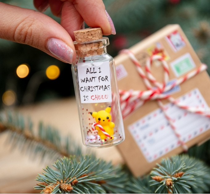 Pikachu Christmas gift for him Funny boyfriend gift Cute holiday gift for girlfriend Pokemon gift for gamer Pokemon Pikachu Anime Gift