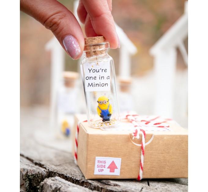 minion kseniya revta Funny boyfriend gift Cute gift for girlfriend Pun gift for her Forever figurine Small anniversary Valentines day gift for him Cartoon lovers