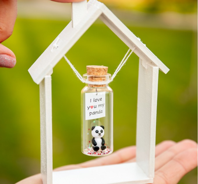 I love you Panda bear gifts Valentines Day gift for her Cute animal gift for boyfriend Funny gift for panda lovers Panda gift for girlfriend