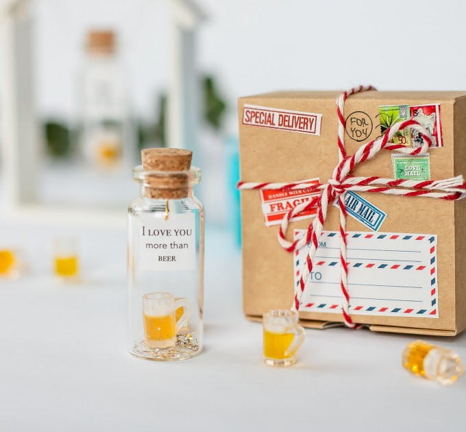 Congrats gift for him Funny graduation gift for boyfriend Beer gift Fathers Day gift Congratulation You deserve a beer Novelty gift for him
