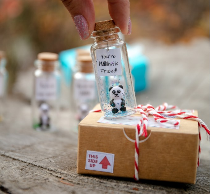 Cute wife gift Panda bear gift for wife Small present for wife from husband Panda gifts to my wife Funny for best wife Collectibles panda