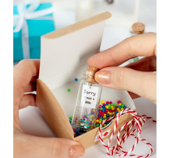 Apology Gift I'm Sorry Gift Poop emoji present, forgive wish jar, please forgive me gift wife, girlfriend, friend, forgiveness