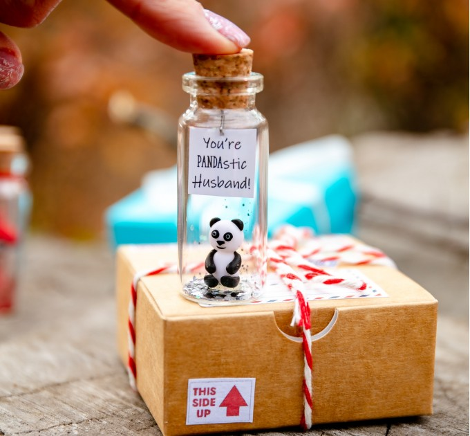 Dad Bear Fathers Day Gift From Daughter Cute Panda Bear Gift For Dad From Son Personalized Grandfather gift Stepdad Present Animal Love
